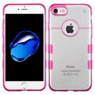 Co-Molded Impact Absorbing Transparent Case for iPhone 8 / 7 - Hot Pink