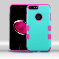 Military Grade Certified TUFF Merge Hybrid Armor Case for iPhone 8 Plus / 7 Plus - Teal Hot Pink