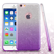 Full Glitter Hybrid Protective Case for iPhone 6 / 6S - Gradient Purple