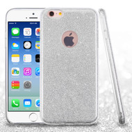 Full Glitter Hybrid Protective Case for iPhone 6 / 6S - Silver