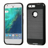 Brushed Hybrid Armor Case for Google Pixel XL - Black