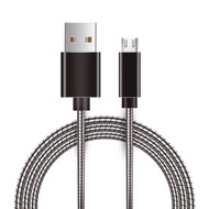 Micro USB Sync and Charging Cable with Interlocking Armor - Black