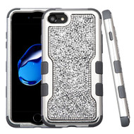 TUFF Vivid Mini Crystals Hybrid Armor Case for iPhone 8 / 7 - Silver
