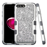 TUFF Vivid Mini Crystals Hybrid Armor Case for iPhone 8 Plus / 7 Plus - Silver