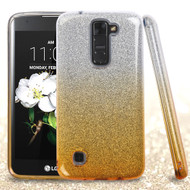 Full Glitter Hybrid Protective Case for LG K7 / K8 / Escape 3 / Treasure LTE / Tribute 5 - Gradient Gold