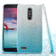 Full Glitter Hybrid Protective Case for ZTE Zmax Pro - Gradient Blue