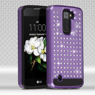 Luxury Bling Diamond Hybrid Case for LG K7 / K8 / Escape 3 / Treasure LTE / Tribute 5 - Purple