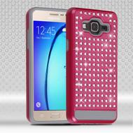 Luxury Bling Diamond Hybrid Case for Samsung Galaxy On5 - Hot Pink