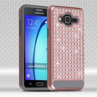 Luxury Bling Diamond Hybrid Case for Samsung Galaxy On5 - Rose Gold