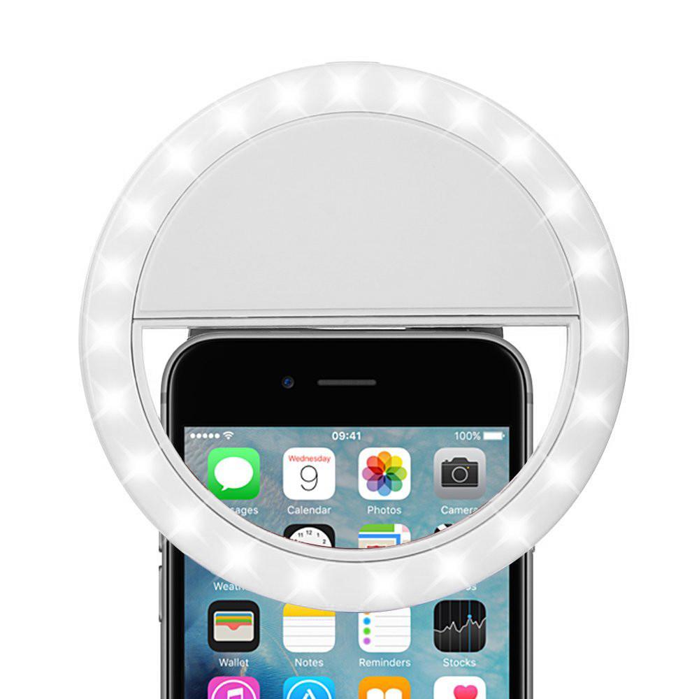 Portable Smartphone Selfie Led Ring Light White Hd