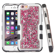 TUFF Vivid Mini Crystals Hybrid Armor Case for iPhone 6 Plus / 6S Plus - Pink