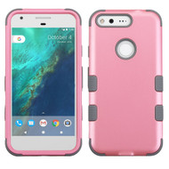 Military Grade Certified TUFF Hybrid Armor Case for Google Pixel XL - Pearl Pink Gray