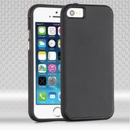Ezpress Anti-Slip Hybrid Armor Case for iPhone SE / 5S / 5 - Black