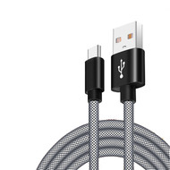 Mesh USB-C (Type-C) Charge and Sync USB 3.1 Cable - Black