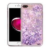 Quicksand Glitter Transparent Case for iPhone 8 Plus / 7 Plus - Purple