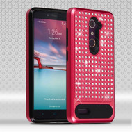 Luxury Bling Diamond Hybrid Case for ZTE Zmax Pro / Grand X Max 2 / Imperial Max / Max Duo 4G - Red