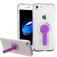 Shockproof Transparent Case with Stand for iPhone 8 / 7 - Purple