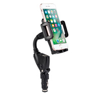 360 Rotation Car Mount Cradle Holder with Dual USB Charger