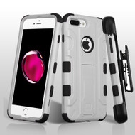Military Grade TUFF Galactic Hybrid Armor Kickstand Case with Holster for iPhone 8 Plus / 7 Plus - Grey