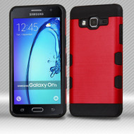 *Sale* Military Grade TUFF Trooper Dual Layer Hybrid Armor Case for Samsung Galaxy On5 - Brushed Red