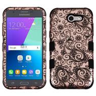 Military Grade TUFF Case for Samsung Galaxy J3 (2017) / J3 Emerge / J3 Prime / Amp Prime 2 / Sol 2 - Leaf Rose Gold