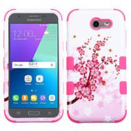 Military Grade TUFF Case for Samsung Galaxy J3 (2017) / J3 Emerge / J3 Prime / Amp Prime 2 / Sol 2 - Spring Flowers