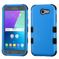 Military Grade TUFF Hybrid Armor Case for Samsung Galaxy J3 (2017) / J3 Emerge / J3 Prime / Amp Prime 2 / Sol 2 - Blue