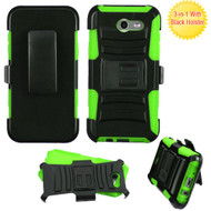 Advanced Hybrid Case with Holster for Samsung Galaxy J3 (2017) / J3 Emerge / J3 Prime / Amp Prime 2 / Sol 2 - Green