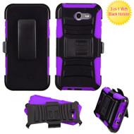 Advanced Hybrid Case with Holster for Samsung Galaxy J3 (2017) / J3 Emerge / J3 Prime / Amp Prime 2 / Sol 2 - Purple