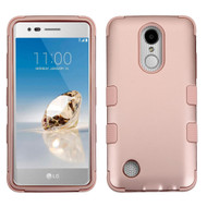 Military Grade TUFF Hybrid Armor Case for LG Aristo / Fortune / K8 2017 / Phoenix 3 - Rose Gold