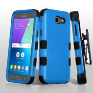 *SALE* Military Grade TUFF Case + Holster for Samsung Galaxy J3 (2017) / J3 Emerge / J3 Prime / Amp Prime 2 - Blue