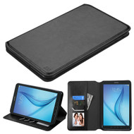 Book-Style Leather Folio Case for Samsung Galaxy Tab E 8.0 - Black