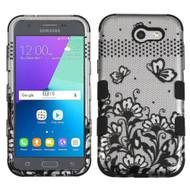 Military Grade TUFF Case for Samsung Galaxy J3 (2017) / J3 Emerge / J3 Prime / Amp Prime 2 / Sol 2 - Lace Black