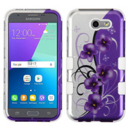 *SALE* Military Grade TUFF Case for Samsung Galaxy J3 (2017) / J3 Emerge / J3 Prime / Amp Prime 2 / Sol 2 - Petunias