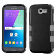 *SALE* Military Grade TUFF Case for Samsung Galaxy J3 (2017) / J3 Emerge / J3 Prime / Amp Prime 2 / Sol 2 - Black Grey