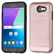 Brushed Multi-Layer Hybrid Case for Samsung Galaxy J3 (2017) / J3 Emerge / J3 Prime / Amp Prime 2 / Sol 2 - Rose Gold
