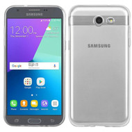Rubberized Crystal Case for Samsung Galaxy J3 (2017) / J3 Emerge / J3 Prime / Amp Prime 2 / Sol 2 - Clear