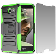 Advanced Holster Case + Tempered Glass for Samsung Galaxy J3 (2017) / J3 Emerge / J3 Prime / Amp Prime 2 / Sol 2 - Green