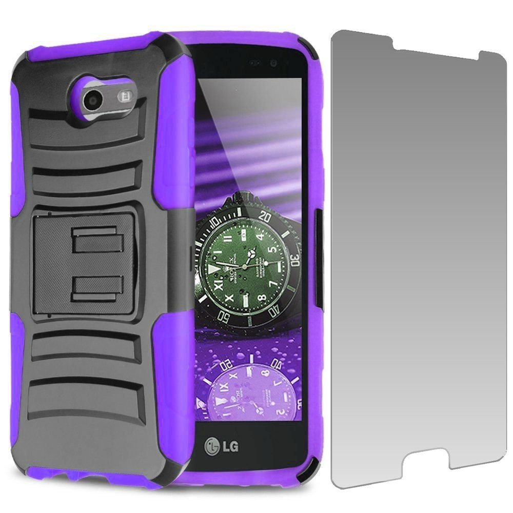 Advanced Holster Case Tempered Glass For Samsung Galaxy
