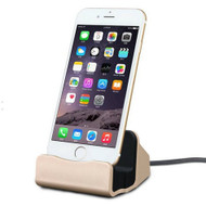 Lightning Charge and Sync Dock Stand for iPhone and iPod - Gold