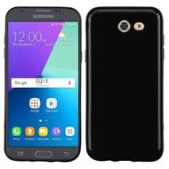 Rubberized Crystal Case for Samsung Galaxy J3 (2017) / J3 Emerge / J3 Prime / Amp Prime 2 / Sol 2 - Jet Black