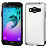 Slim Armor Multi-Layer Hybrid Case for Samsung Galaxy Amp Prime / Express Prime / J3 / Sol - Silver