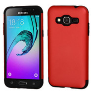 Slim Armor Multi-Layer Hybrid Case for Samsung Galaxy Amp Prime / Express Prime / J3 / Sol - Red