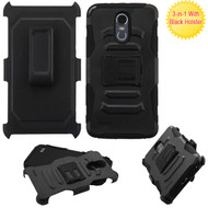Advanced Armor Hybrid Kickstand Case with Holster for LG Stylo 3 / Stylo 3 Plus - Black