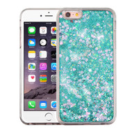 Quicksand Glitter Transparent Case for iPhone 6 Plus / 6S Plus - Teal Green