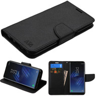 Diary Leather Wallet Case for Samsung Galaxy S8 - Black