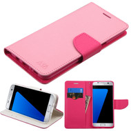 Diary Leather Wallet Case for Samsung Galaxy S8 Plus - Pink