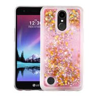 Quicksand Glitter Transparent Case for LG K20 Plus / K20 V / K10 (2017) / Harmony - Pink