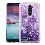 Quicksand Glitter Transparent Case for ZTE Zmax Pro - Purple