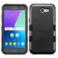 Military Grade TUFF Case for Samsung Galaxy J3 (2017) / J3 Emerge / J3 Prime / Amp Prime 2 / Sol 2 - Carbon Fiber